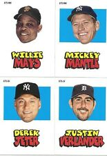 Lot of 25 2012 Topps Archives 67 Sticker Complete Set