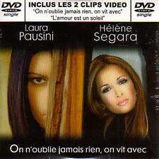 ☆ Helene SEGARA Laura PAUSINI RARE French DVD single On n'oublie jamais rien ☆