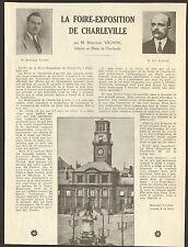 08 CHARLEVILLE LA FOIRE-EXPOSITION ARTICLE DE PRESSE PAR MARCEAU VIGNON  1937