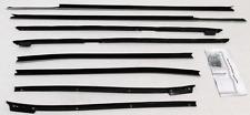 1967-1968 Cadillac Deville Convertible Repops Window Felt Weatherstrip Kit 8pc