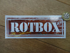 Rotbox autocollant (150 mm x 50 mm) Rat Look JDM DUB rouille Surf Camper Van Drôle VW