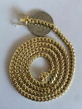 """Men's Solid 14k Yellow Gold Miami Cuban Link Chain 5mm Necklace 22-26"""" 43-52g"""