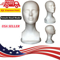Women Realistic Mannequin Head Mannequin Head for Wigs Hat Glasses Jewelry USA