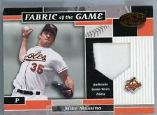 Mike Mussina game used jersey patch 2002 Donruss Leaf Fabric of the Game
