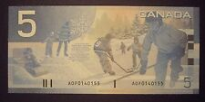 Canada 2001 BC-62a $5 Changeover Note AOF0140155 - GemUnc