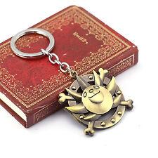 New Anime One piece W Metal Charm Keychain Thousand Sunny Key Ring