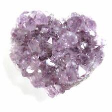 Drusy Druzy 30mm Amethyst Heart February Birthstone U1041