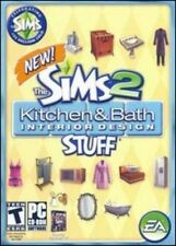 The Sims 2 Kitchen & Bath Interior Design Stuff + Manual PC CD game cook add-on!