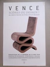 Frank GEHRY Affiche originale 2010 Wiggle side chair Design Meuble Toronto siège