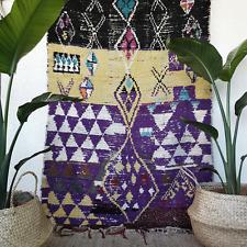 Moroccan boucherouite rug handmade vintage home decoration carpet ourika carpet