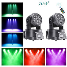 U`King 2Pcs 70W Stage Lighting Led Rgbw Moving Head Remote Dj Disco Party Light