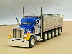 Dcp modified Eilen blue Peterbilt 379 daycab 6 axle MAC dump truck used no box