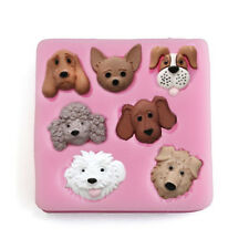 Christmas Puppy Shaped Silicone Cake Mold Dog Pet Fondant Sugarcraft Clay Moulds