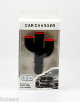 Universal Triple 3 Port USB Car Charger for HTC LG Apple iPhone Samsung Phone