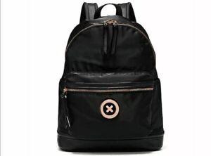 MIMCO Bag Backpack Black Back Pack ROSE GOLD XO Logo BNWT RRP$199 New