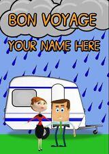 BON VOYAGE  Humour Card PIDI2  A5 Personalised  Greeting Card
