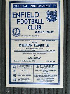68/9 Enfield vs Isthmian League X1 (Friendly Challenge Match)