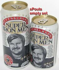 RAY MANSFIELD SUPER IRON MAN PITTSBURGH STEELERS NFL FOOTBALL SPORT BEER CAN SET