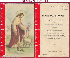 2796 SANTINO HOLY CARD GESù BUON PASTORE PECORELLA SMARRITA NB 6086 STELLA UDINE