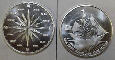 Pirate Ship & Compass 1 oz Silver Round