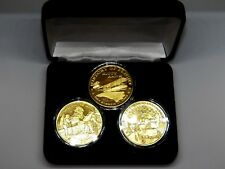 RARE~ Highland Mint # 0876~ 3 Coin Set~2003 History~ Total ~ 3 oz .999 Silver .