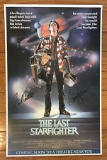 Lance Guest Nick Castle Signed The Last Starfighter 11x17 Movie Poster Cert HOLO