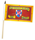Scotland The Brave Tartan Large Hand Waving Courtesy Flag