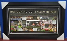 Collingwood Anzac Day Rivarly Limited Edition AFL Print Deluxe Black Frame Swan