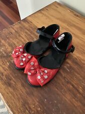 Size 9/10 Girls Disney Store Minnie Mouse Shoes Fancy Dress Up Costume 9 10 Bow