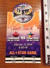 1999 AHL All Star Hockey Game ticket stub Canadian vs PlanetUSA NHL Philadelphia