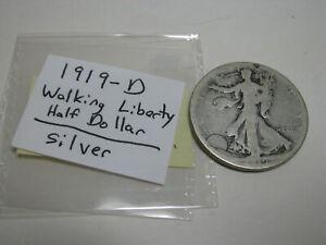 1919-D Walking Liberty Half Dollar Silver with slipcase