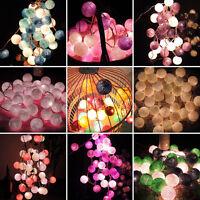 20/35 COTTON BALL FAIRY LED STRING LIGHTS PARTY PATIO WEDDING Christmas DECOR