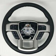17 thru 19 Super Duty F250 F350  OEM Ford Black Leather Steering Wheel w/ Cruise