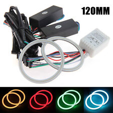 120MM RGB Multi-color Flash SMD LED Angel Eyes Halo Rings Remote Controller Kit