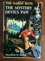 Vintage HARDY BOYS #38 MYSTERY AT DEVIL'S PAW HB/DJ 1st Printing