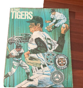1968 World Series Detroit Tigers MLB Baseball Poster 1971 Print Shields old