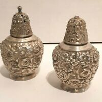 Vintage Viking EP Lead Ornate Art Deco Silver Plate Salt and Pepper Shakers