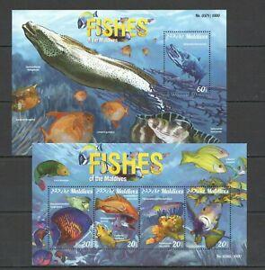 ML103 2015 MALDIVES FAUNA MARINE LIFE FISHES KB+BL MNH