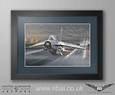 Framed English Electric Lightning F.6 XR728 'JS', RAF Binbrook. DigitalArt Print