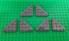 *NEW* Lego Dark Grey 4x1 Flat Angled Plates Wings Spaceships Planes - 6 pieces