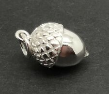 Acorn solid Sterling Silver Pendant, New. Heavy. Charm. No Chain. UK seller.