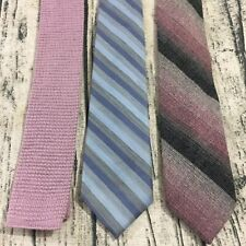 Woolcrofter Allan St George Wembley Vtg Wool Blend Ties Lot Of 3 Knit Square End