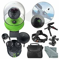 360Fly 4K Action Camera and Accessory Bundle with Camera Mounts + XPIX Tripod +