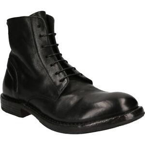 Moma Boots CWCU NERO, Glattleder, Schwarz, Herren
