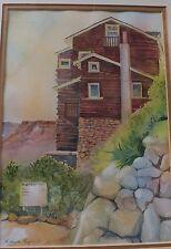 ROBERTA ROGERS original Grand Canyon Arizona Bright Angel trail w/c painting