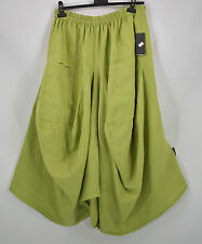 SARAH SANTOS 100% LINEN  hitched parachute skirt in green  size L/XL
