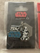 Run Disney 1/2 Half Marathon Star Wars Dark Side Pin 2018 5K Logo Stormtroopers