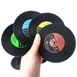 VINYL  RECORD  RETRO TABLE CUP MAT DECOR COFFEE PLACEMAT ORNAMENT