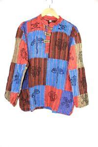 Mens Hippies Plain Shirt Collarless Granddad Casual Bares Festival Full Sleeved