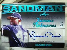"1/3 Mariano Rivera Auto ""The SANDMAN"" FAMOUS NICKNAMES 2016 Leaf Sports Heroes"